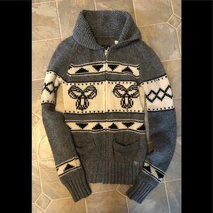 TNA ARITZIA sea to Sky zip up sweater